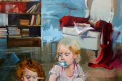 """""""If not now, when"""" 90x160cm, oil on linen"""